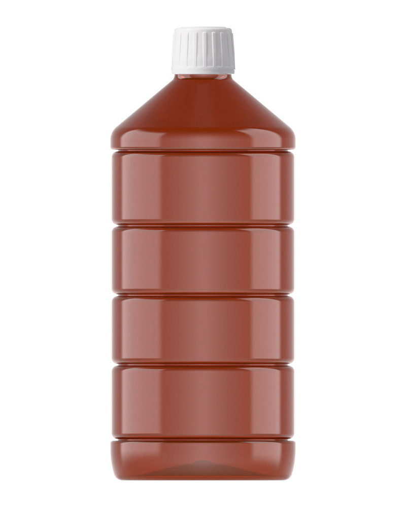 Ribbed Veral Amber 1000ml 6
