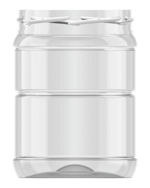Ribbed Round Jar 553ml