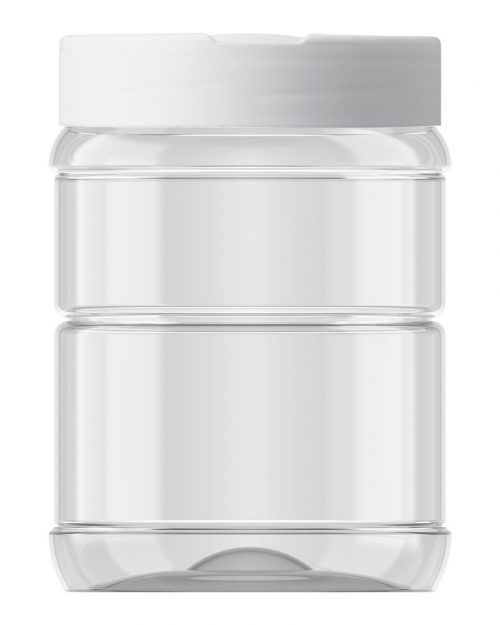 Ribbed Round Jar 553ml