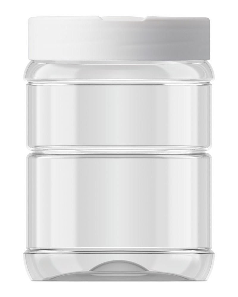 Ribbed Round Jar 553ml 3