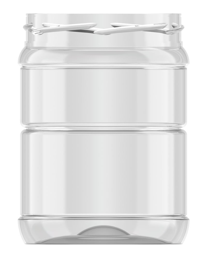 Ribbed Round Jar 553ml 1
